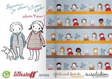 LILLESTOFF Girls and friends buntpastell - Jersey