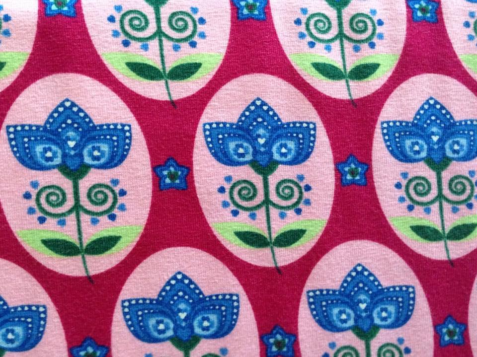 Zwirnpiraten - Baumwolle bw cotton co elastan el jersey motiv blume ...