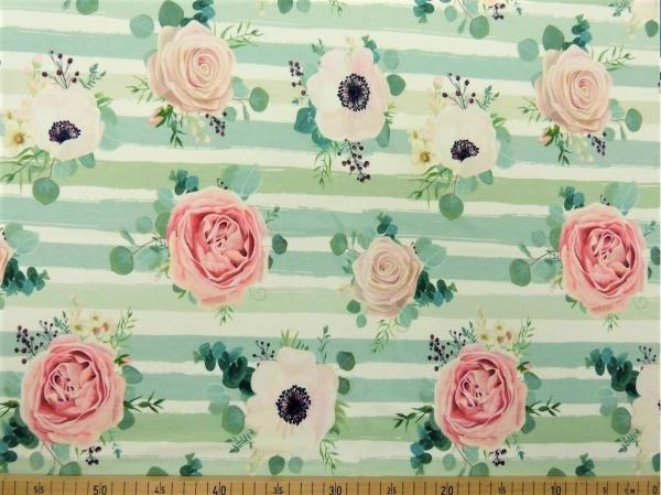SW Roses mint - Jersey